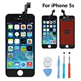 New Sign iPhone 5S 4.0 Inch Screen Replacement LCD Digitizer Full Assembly Kit (iPhone 5s Black)
