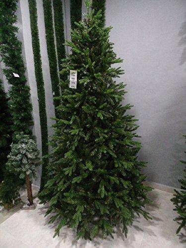 Salone Negozio Online Albero di Natale Pino Fresh Tree Slim CM.210 Rami in Silicone + PVC Base CM.106 Interno/Esterno