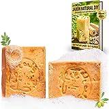 tom&pat® Jabón de Alepo Original (2x 200g) + eBook: Jabón Natural DIY, 80/20% aceite de oliva/laurel, jabón para la ducha, jabón para el cabello, jabón de manos, PH valor 8, desintoxicantes