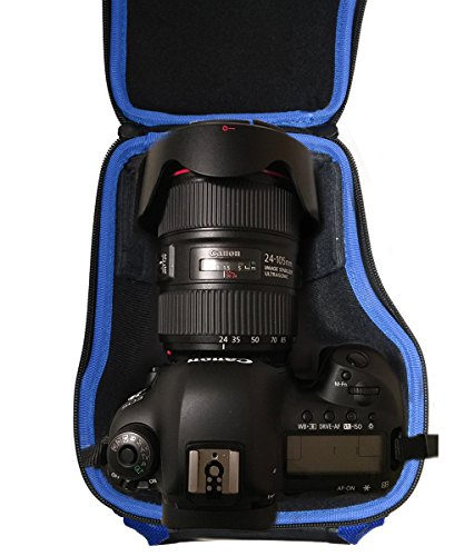Alltravel DSLR Camera case Compatible with Canon EOS Rebel T7, T7i, T6, T8i, SL3, EOS 2000D, 4000D, 90D, EOS M50 Mark II, EOS 5D, 6D ; Nikon D5600, D3500, D7500; Panasonic LUMIX FZ300, FZ1000