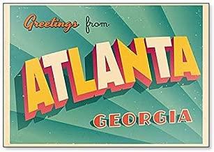 Vintage Touristic Greeting Illustration From Atlanta, Georgia Fridge Magnet