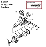 Victor SR360A Acetylene Regulator Rebuild/Repair Parts Kit