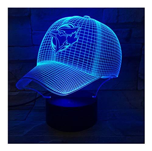 Led-Lampe Nacht Toronto Blue Jays Baseball Cup Touch Sensor Rgb 7 Farbwechsel Kinder Kinder Geschenk Usb Nachtlicht Decor 3D