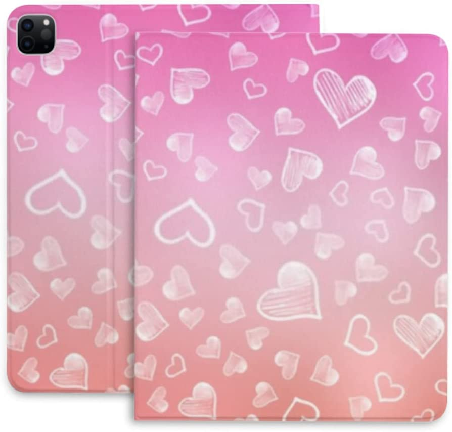 Case for Ipad Large discharge sale Spasm price Pro 12.9 Light Sweet Pink Layout Hearts Vector