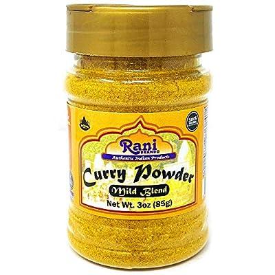 Rani Curry Powder Mild Natural 10-Spice Blend 85g (3oz) ~ Salt Free   NO Chili or Peppers   Vegan   No Colors   Gluten Friendly   NON-GMO   Indian Origin
