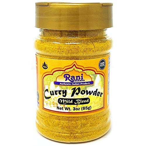 Rani Curry Powder Mild Natural 10-Spice Blend 85g (3oz) ~ Salt Free | Vegan | No Colors | Gluten Friendly | NON-GMO | NO Chili or Peppers