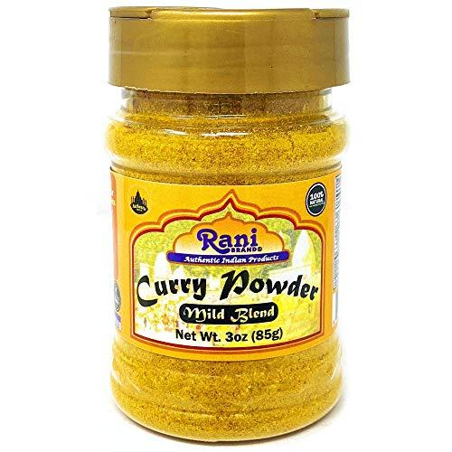 Rani Curry Powder Mild Natural 10-Spice Blend 85g (3oz) ~ Salt Free   NO Chili or Peppers   Vegan  ...