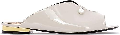 COLIAC CL608POWDE Damen Weißs Lackleder Mulesschuhe