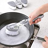 Om Anvay Automatic Liquid Tank Kitchen Cleaning Brush Scrubber Dish Bowl Washing Sponge