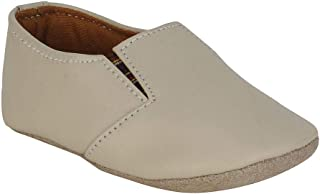 Hopscotch Beanz Boys Canvas Gental Parmmy Slip Ons in Cream Color