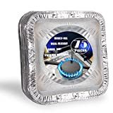 [75 Pack] 8.5 Inch Aluminum Foil Stove Burner Covers - Disposable Square Oven Liner for Kitchen Stovetop, Oil Drip Pans, Electric Stoves Bib Liners, Cooktop Replacement Guard, and Gas Range Protectors