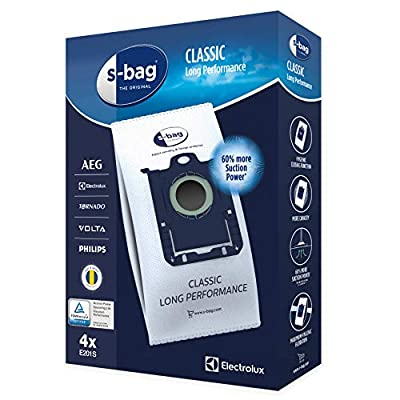 Electrolux Pack of 4 E201S S-Bag Long Performance Bags by Electrolux