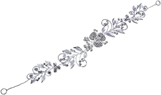 Bullidea Fashion Women's Hair Chain Headband Hair Band Head Band Accessories Beautiful Leaves and Flowers Stretch Shiny Rh...