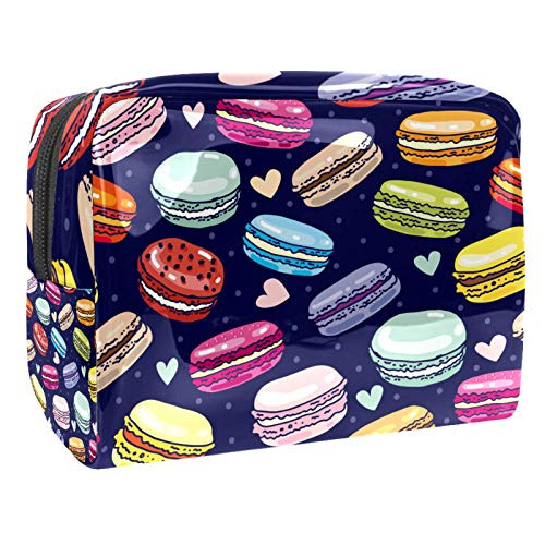 Macarons 18.5x7.5x13cm/7.3x3x5.1in(L xW xH) Neceser de maquillaje Cepillos de maquillaje bolsa de transporte de PVC bolsa de aseo