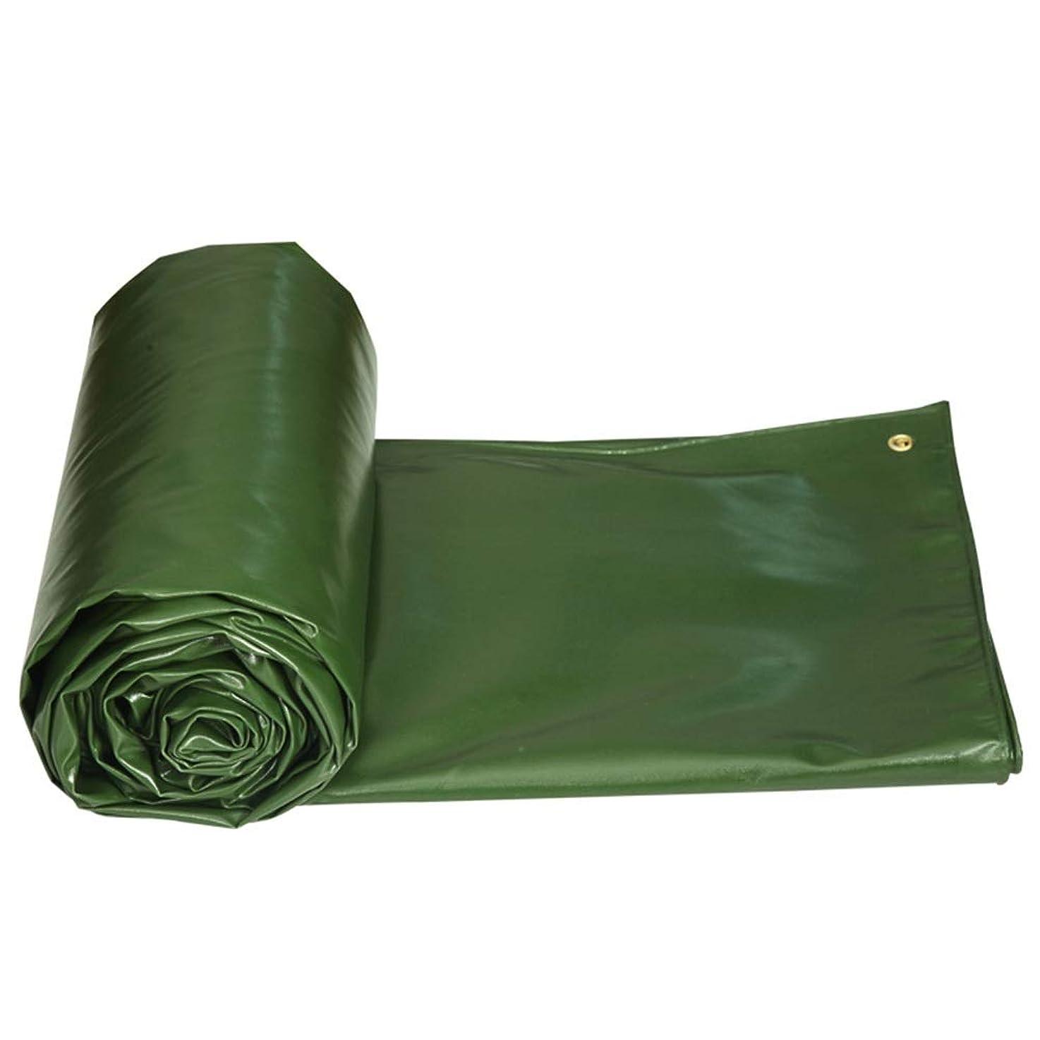 ルーキー佐賀ばかげたFQJYNLY ターポリンタープ防水シートPVC酸化防止防雨布屋外のバルコニー、サイズカスタマイズ (Color : Green, Size : 2.85×2.85m)