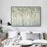 fancj Abstract Nostalgic Autumn Forest CanvasArtistic Fashion Poster n Print Wall Art For Living Room Studio La Imagen Decor60x90cm (No Frame)