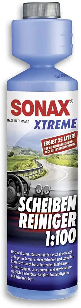 SONAX Limpiacristales XTREME 1:100 (250 ml) para el sistema de limpiaparabrisas | N.° 02711410-544
