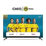 CHiQ Televisor Smart TV LED 50 Pulgadas 4K UHD, HDR 10/HLG, WiFi, Bluetooth, Youtube, Netflix, Prime Video, 3 x HDMI, 2 x USB - U50H7L