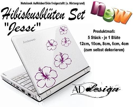 Aufkleber Skin f r Notebook Laptop Hibiskusbl ten Set JESSI freie Folienfarbwahl Schätzpreis : 6,95 €