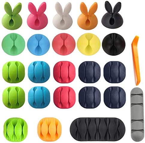 3M Cable Clips Organizer Adhesive Colorful Cord Charger Holder Cute Animal Desktop Multipurpose product image