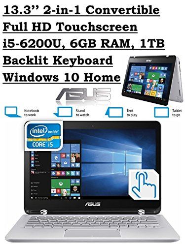 ASUS Q304UA 13.3-inch 2-in-1 Touchscreen Full HD Laptop...