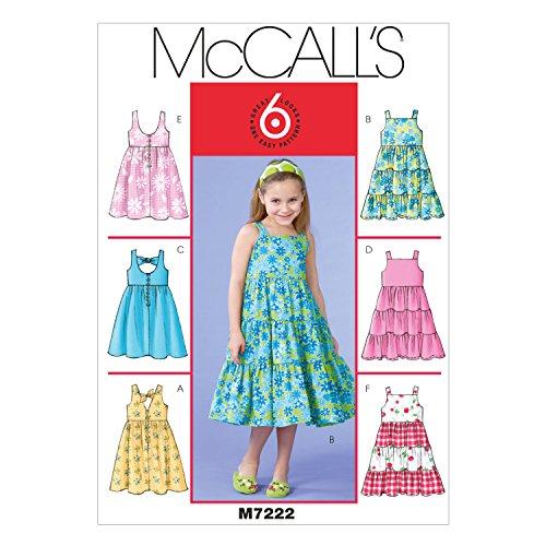 MCCALL 's Patterns Tallas 2/3/4/5de los niños/Vestidos de niña