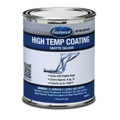 Eastwood Durable Matte Silver Finish Heat Resistant Easy to Apply Paint Pint