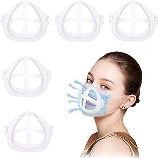3D Mask Bracket -Mask Holder Stand Protect Lipstick Lips - Internal Support Holder Frame Nose Breathing smoothly DIY Face ...