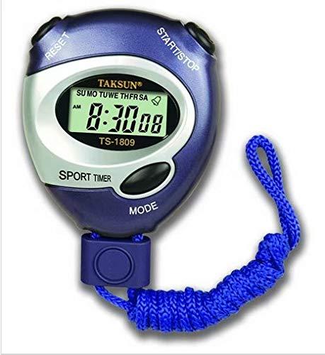 HANBIN Reloj Reloj Temporizador Contador de Alarma Cronómetro Deportivo de Mano Digital con Correa para el Cuello Blue