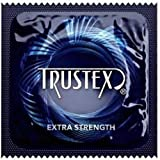 Trustex Extra Strength with Silver Lunamax Pocket Case, Strong Lubricated Latex Condoms-24 Count