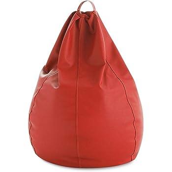 HAPPERS Puff Pera Polipiel Indoor Rojo XL: Amazon.es: Hogar