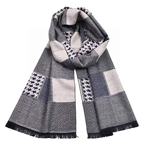 Elegent Dress-scarf Doppelseitiger Schal aus Kaschmir mit Hahnentrittmuster und Doppeltem Verwendungszweck, Hahnentritt, 175cm