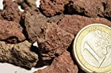 100 kg Pouzzolane, pierre de lave rouge pour Jardin, paillage et décoration à l'intérieur et à l'extérieur, 5 – 15 mm
