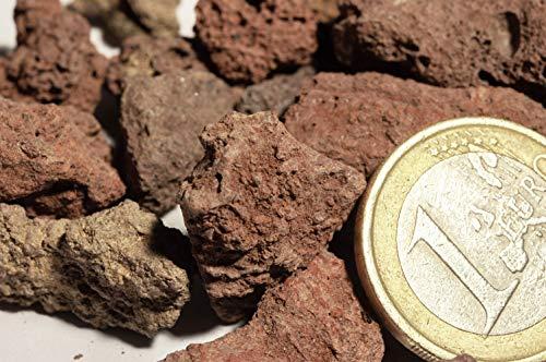 100 kg Pouzzolane, pierre de lave rouge pour Jardin, paillage et décoration à lintérieur et à lextérieur, 5 – 15 mm