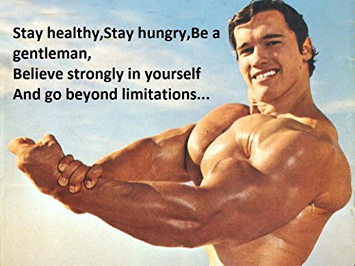 Wall Decor Master Arnold Schwarzenegger Bodybuilder Olympia Universe Conquer Classical Sport Poster Home Deco 32 inch x 24 inch