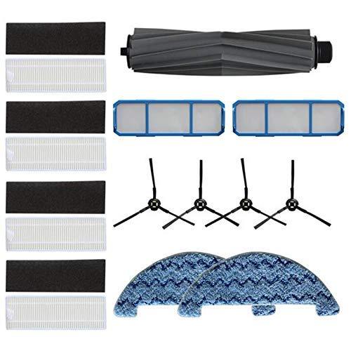KTZAJO Cepillo lateral Cepillo principal Hepa filtro de polvo para A7 A9S robot Partes de aspirador reemplazar trapo