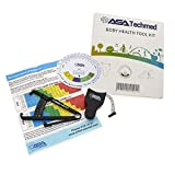 ASA Techmed Body Health Tool Kit - Body Fat Monitors - Skinfold Fat Caliper, Body Tape Measure, BMI Calculator - Instructions and Body Fat Charts for Men and Women (Black)