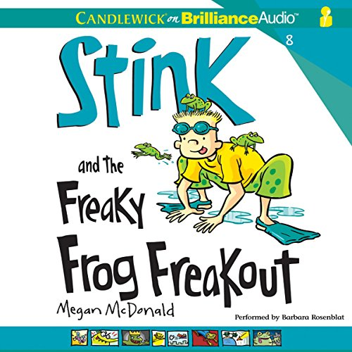 Stink and the Freaky Frog Freakout audiobook cover art