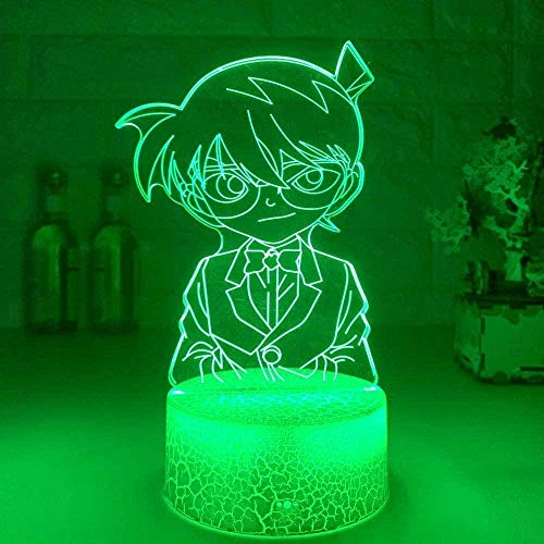 3D-Lampe, Kinder-Nachtlicht, Anime-Detektiv, Conan-Figur, LED, für Schlafzimmer, Kinder, einzigartiges Nachtlicht für Geburtstag, Weihnachten, 16 Farben