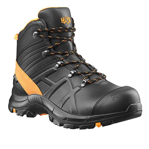 Haix Black Eagle® Safety Mid 54 Sicherheits-Stiefel S3 SRC ESD HRO HI CI WR schwarz orange | 47