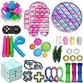30pc Tik Tok Fidget Juguetes Paquete sensoriales Fidget juguetes para empujar Bubble Pop estrés juguete ansiedad Relief Set Juguetes para ADD TOC niños autistas adultos Ansiedad Autismo (Toy Set A1) de