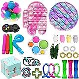 30Pc TIK Tok Fidget Spielzeug Packung Sinnes Fidget Spielzeug Push-Pop-Blase Spielzeug-Druck-Anxiety...