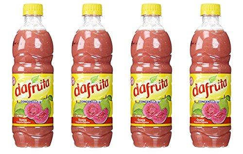 Dafruta Guava Concentrate Juice 16.9 Fl.Oz. | Suco de Goiaba Concentrado 500ml (Pack of 04)