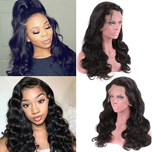 Body Wave Full Lace Wig Human Hair Bleacked Knot Pre Plucked With Baby Hair 130 Density Can Be Middle Part Free Part For African American Amazon Prime Deals 28 Inch