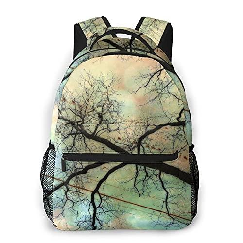 Judascepeda Multi-Freizeitrucksack,Vögel auf Powerline-Kunstdruck, Reisesport Schultasche für erwachsene Jugendliche College-Studenten