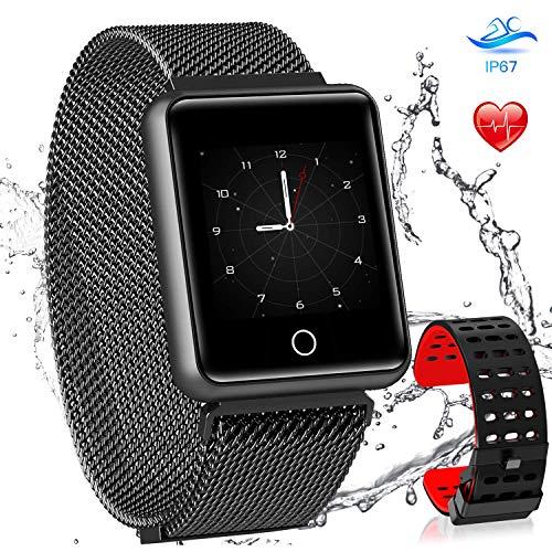 AGPTEK Smartwatch Mujer, Reloj Inteligente Deportivo Impermeable para con Pantalla a Color, Correa Cambio y GPS, Monitor de Sueño, Recordatorio de Mensaje, Compatible con Android y iOS