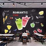 Zybnb Mural De La Pared 3DBebidas Jugo De Arte Pintura Mural Bar Snack Bar Helado Leche Tienda De Té Decoración De La Pared Poster Wallpaper