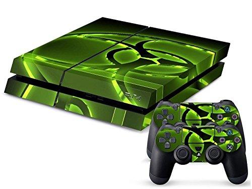 Gaminger Playstation 4 - Kit de Skins (Fundas Adhesivas) para Consola + 2 mandos de Control – Hazard Modern