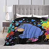 Eeyore Blanket A Soft and Warm Coral Fleece Blanket 80'X60' in