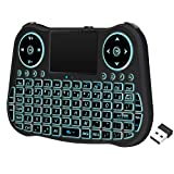 Backlit Mini Wireless Keyboard with Touchpad Mouse...